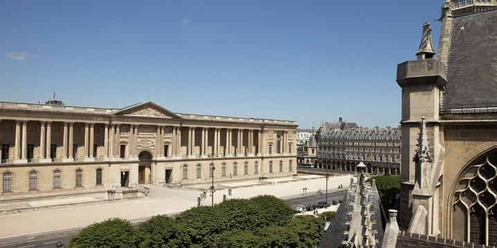 La colonnade du Louvre vue depuis l'Hôtel de la Place du Louvre