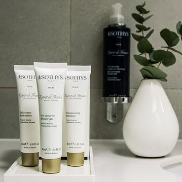 Sothys products in your room at the Hotel de la Place du Louvre